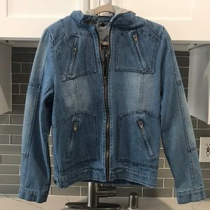 Jackets & Blazers - BRAND NEW Jean jacket with removable hood